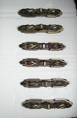 Drawer Pulls Backplate Antique Steampunk Ornate Spiral Brass 2 Piece  Lot of 6