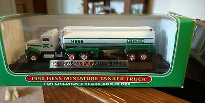 Hess Miniature Mini 1998 Tanker Truck With Lights Brand New
