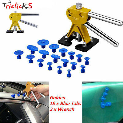 Car Body Paintless Dent Repair Tool PDR Puller Hail Removal&18 Glue Pulling Tabs