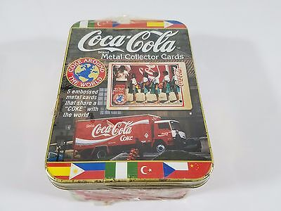 COCA-COLA Brand METAL COLLECTOR CARDS, Sealed in Package.