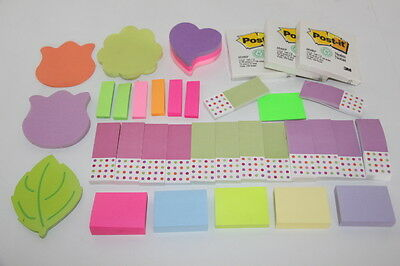 Large Lot Assorted Color Post-It Notes Tabs