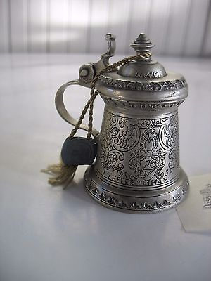 Vintage Miniature 95% Zinn German Pewter Stein Goebel The Museum Collection #3