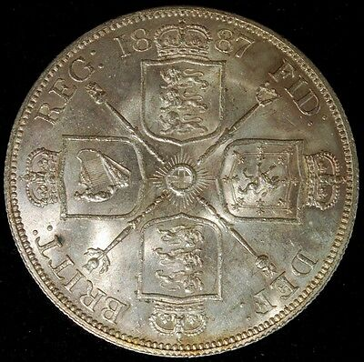 Great Britain 1887 Victoria Double Florin Brilliant Uncirculated