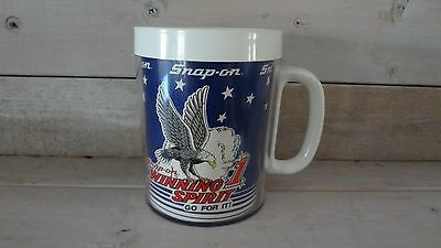 Collectible SNAP-ON Tools Winning Spirit 1 Mug/Cup Small White Plastic Go For It