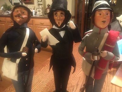 Byers Choice Caroler Abraham Lincoln + Union & Confederate Solder 3 piece