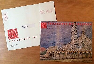 FRANK LLOYD WRIGHT TREASURES OF TALIESIN 76 Unbuilt Plans PUBLISHER'S PROSPECTUS