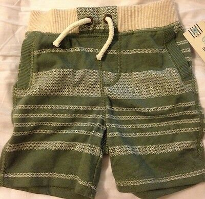 New Oshkosh Genuine Kids Toddler Boys Itasca Green Casual Shorts, 3T