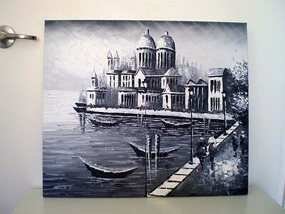 Oil Painting on Canvas – Monotone of Venice – Ready to Hang