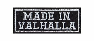 Made in Valhalla Biker Patches Aufnäher Motorcycle MC Badge God Heaven Viking