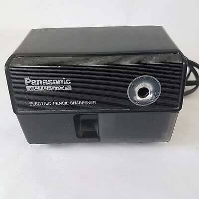 Panasonic KP-110 Auto-Stop Electric Pencil Sharpener Black Tested Made in Japan