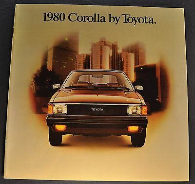 1980 Toyota Corolla Catalog Sales Brochure SR-5 Tercel Excellent Original 80