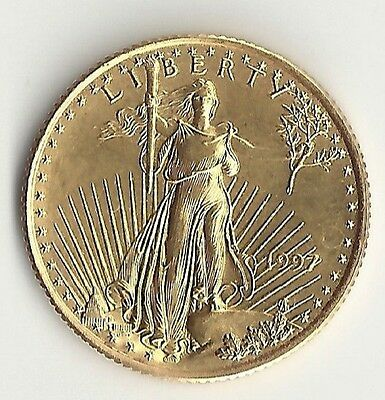 American Eagle Gold Coin 1/4 Oz 1997 $10 Bullion 1/4 OZ Round Liberty