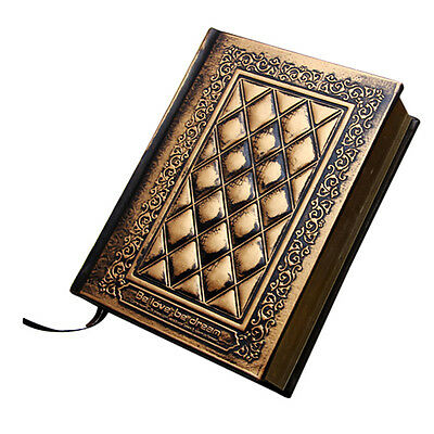 Hard Leather Cover 416 pages Thick Blank Notebook Journal Diary Sketchbook Gift