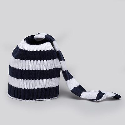 Kissy Kissy Navy Broad Stripes Knitted Stocking Hat