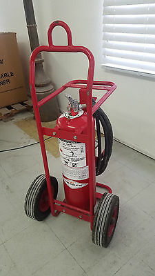 Wheeled Fire Extinguisher - 50 lb. - Purple K Dry Chemical - Amerex 497 -