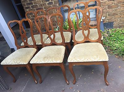 8 X Vintage / Antique Hepplewhite Dining Chairs