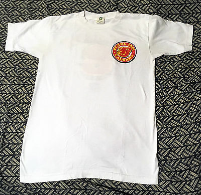 Scorching PEARL JAM CALGARY FLAMES NO. 8 WHITE HOCKEY TOUR SHIRT SIZE SMALL