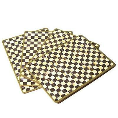MacKenzie-Childs Courtly Check Cork Back Placemats  *Set of 4*.  *NEW*