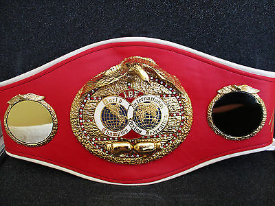 IBF World Championship boxing belt signed by Mike Tyson