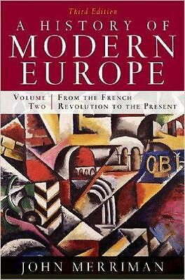 NEW A History of Modern Europe By Merriman Paperback Free Shipping