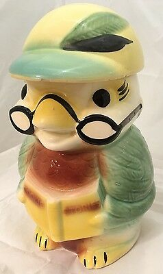 """Cookie Stories"" Jar Robinson Ransbottom Wise Owl RRP Co Roseville Ohio Vtg #359"