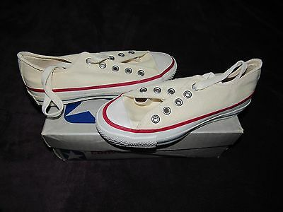 Nib Vintage Converse Silver Box All Star Chuck Taylor Kids Low 3.5 Made In Usa