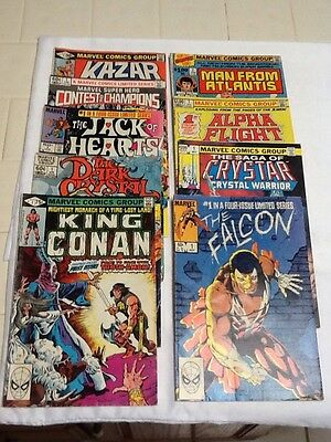 Lot Of 9 Marvel #1's 1981-83 LOOK  (000865)