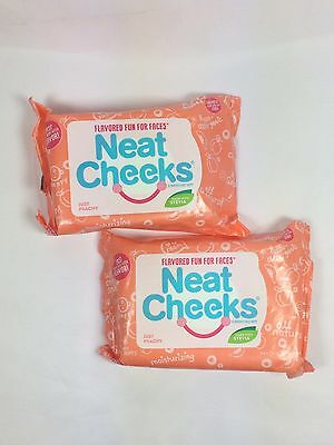 Neat Cheeks Peach Flavored Flavor Face Wipes Baby Toddler 2-packs