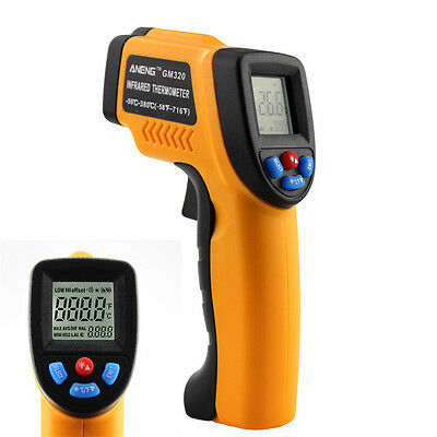 New GM320 Handheld Non-Contact LCD Digital IR Infrared Laser Temp Thermometer