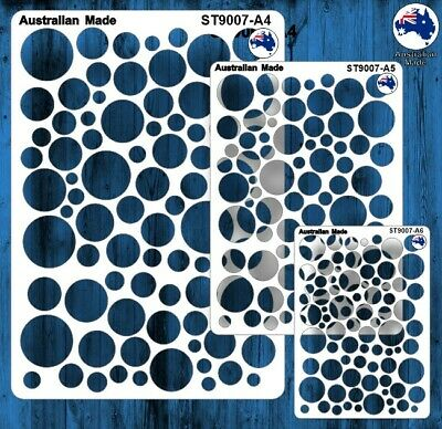 Stencils, Masks for Scrapooking, Cardmaking - ST9007 Circles, A4, A5, A6