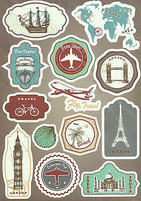 Sticker Decal Sticker Set Travel Mix (3) - Ideal for Suitcase, Laptop