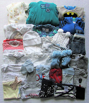 BULK Baby Boys Size 0000/Newborn WINTER Clothes x30 Patch Target Pure Baby Bebe