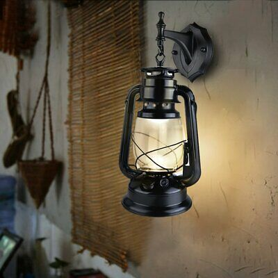 Vintage Outdoor Wall light Lantern wall light fixture+3W LED Bulb warmwhite