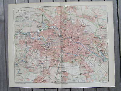 Antique map  Berlin Germany Deutschland 1903 Berlijn