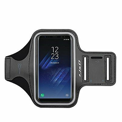 Galaxy S8 Plus Armband Waterproof for Sports Running with Key holder Slot Black