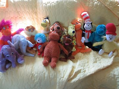 Lot Of 14 Kohls Cares Dr.suess Stuffed....lorax...horton...nose Book..put Me In