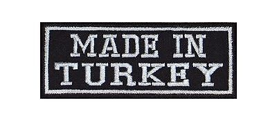 Made in Turkey Biker Patches Aufnäher Motorrad MC Country Nation Land Türkei Lie