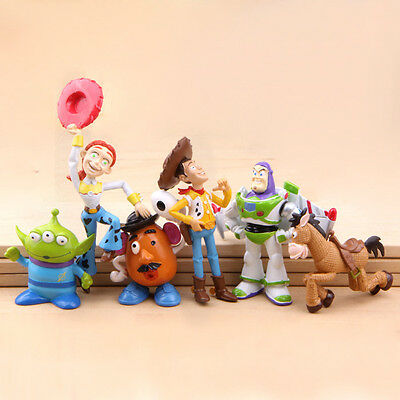 6pcs/set Toy Story Woody Alien Disney Action Figures Dinosaur Lotso Toys Doll