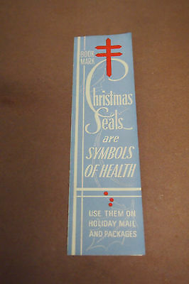 Vintage WWII Christmas Seals Print Ad Book mark - Tuberculosis