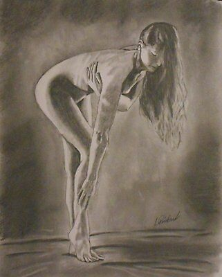 Standing Nude a drawing by Pinkard