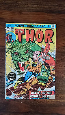 Marvel comics The Mighty Thor #238 1975 GD 1st print