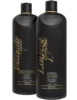 Inoar Moroccan Brazilian Keratin Treatment Hair Straightening Full Kit Litre
