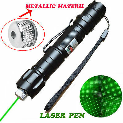 Powerful 5mW 10Miles 532nm Green Laser Pointer Pen Visible Beam Light Lazer UP