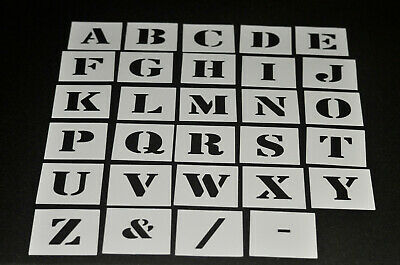 Alphabet Stencil Individual Letters A - Z 40mm up to 200mm high - Free Post
