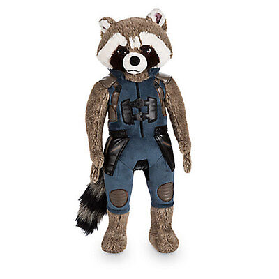 NEW! Disney Store Rocket Raccoon Plush Guardians of the Galaxy Vol. 2 17'' Doll
