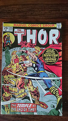 Marvel comics The Mighty Thor #245 1976 VF- 1st print cents copy