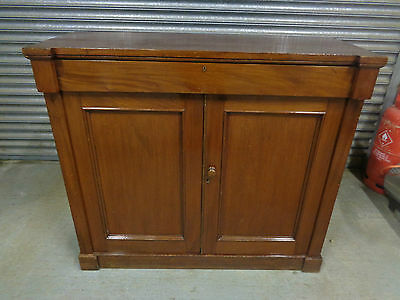 An Antique Victorian Mahogany Side Cabinet Cupboard Sideboard Buffet Chiffonier
