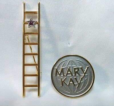 Mary Kay Pin lapel and Ladder Brooch with Ruby Star