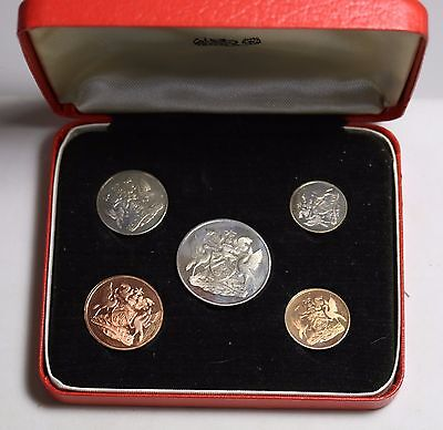 1966 Trinidad and Tobago 5 Coin Proof Set in Original Box