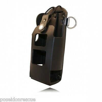 Boston Leather Fireman's Radio Holder 5482-RC-1 for Motorola HT750
